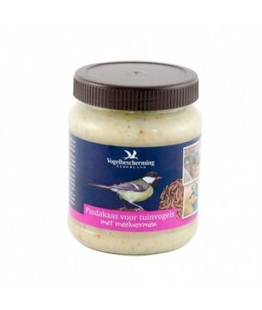 Pindakaas voor tuinvogels meelwormen